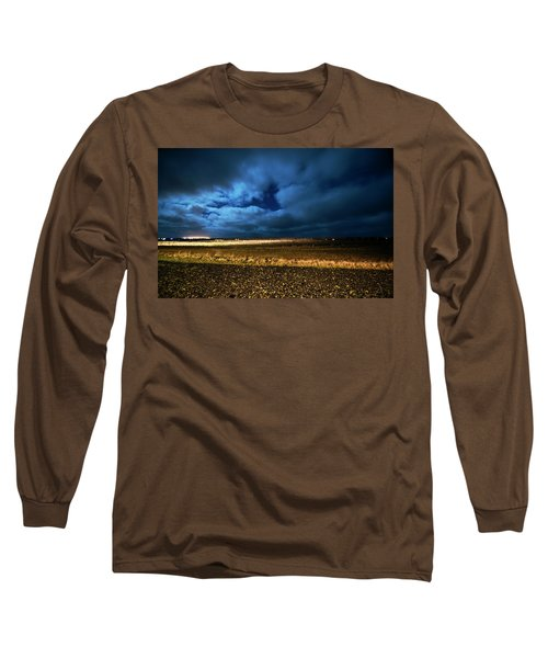 Long Sleeve T-Shirt featuring the photograph Icelandic Night  by Dubi Roman