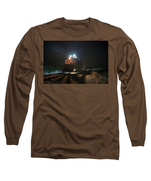 Long Sleeve T-Shirt featuring the photograph Night Train by Aaron J Groen