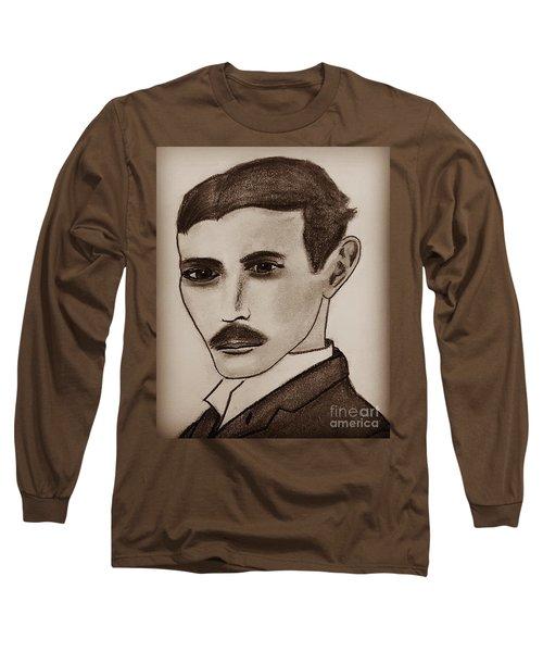 Nikola Tesla, Mad Scientist Long Sleeve T-Shirt
