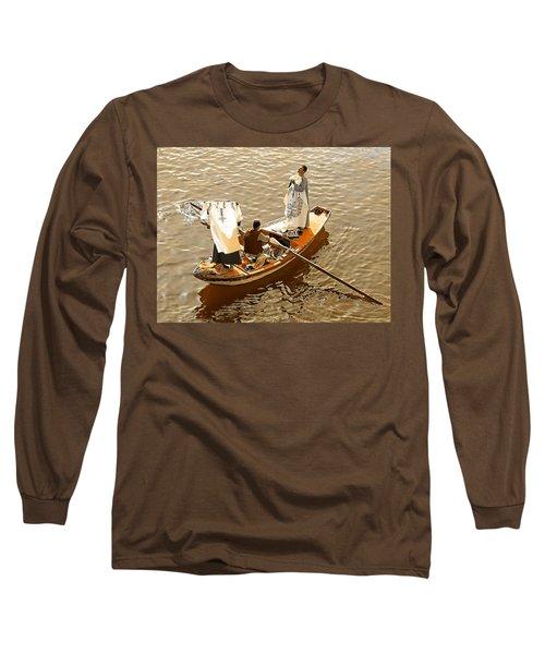 Long Sleeve T-Shirt featuring the photograph Nile River Merchants by Joseph Hendrix