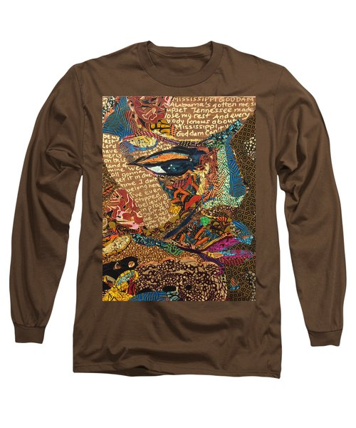 Nina Simone Fragmented- Mississippi Goddamn Long Sleeve T-Shirt by Apanaki Temitayo M