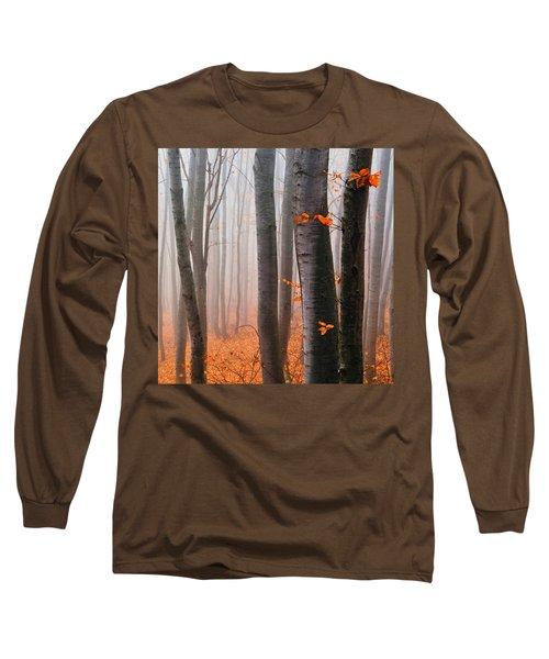 Orange Wood Long Sleeve T-Shirt