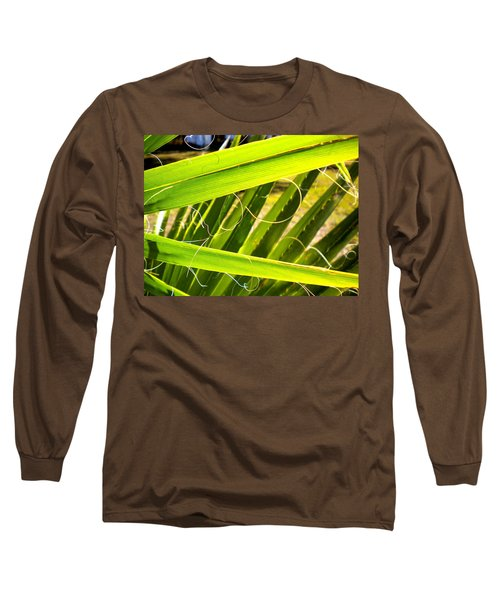 Long Sleeve T-Shirt featuring the painting Palmetto 3 by Renate Nadi Wesley