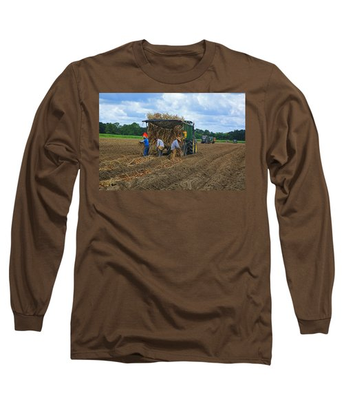 Planting Sugarcane Long Sleeve T-Shirt by Ronald Olivier