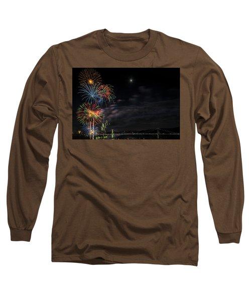 Poughkeepsie Fireworks Image Six Long Sleeve T-Shirt