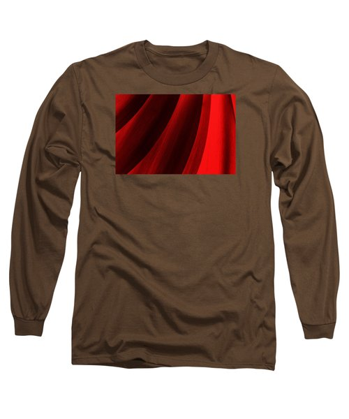 Red Chrysanthemum Dawn Rising Long Sleeve T-Shirt by John Williams
