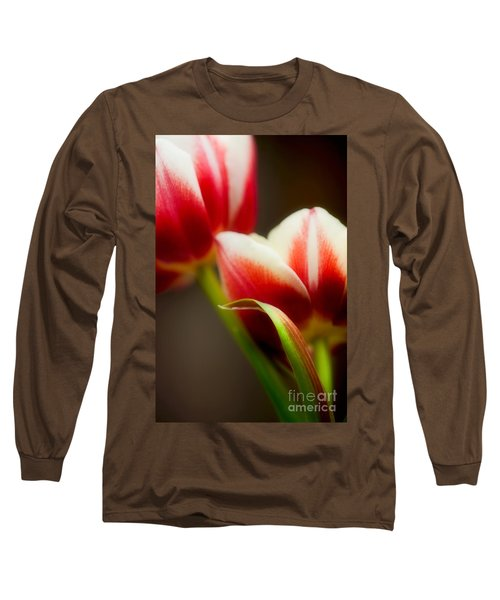 Red And White Tulips Long Sleeve T-Shirt
