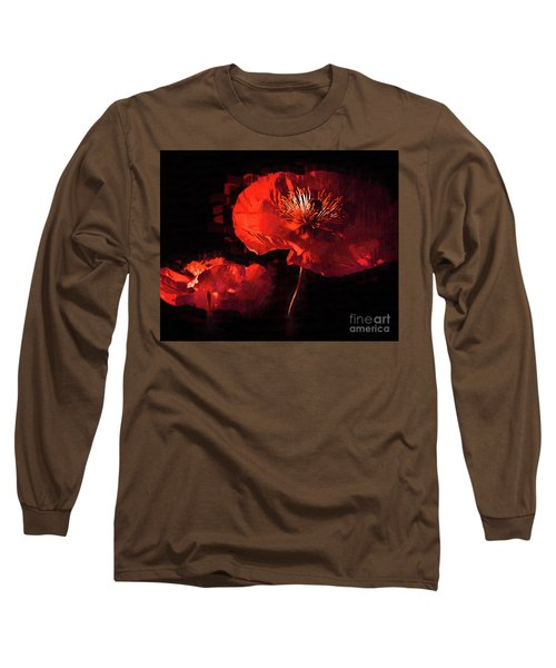 Two Red Poppies Long Sleeve T-Shirt by Kirt Tisdale