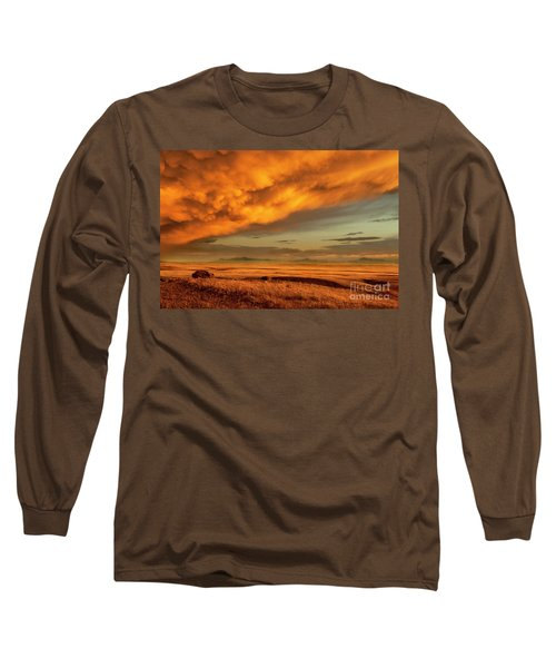 Red Rock Coulee Sunset 1 Long Sleeve T-Shirt
