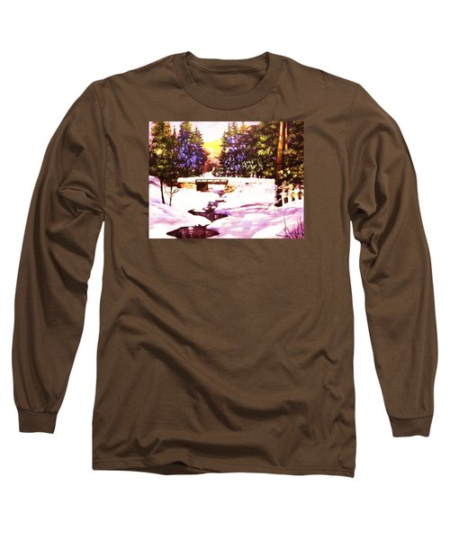 Long Sleeve T-Shirt featuring the painting Seasonal  Change by Al Brown