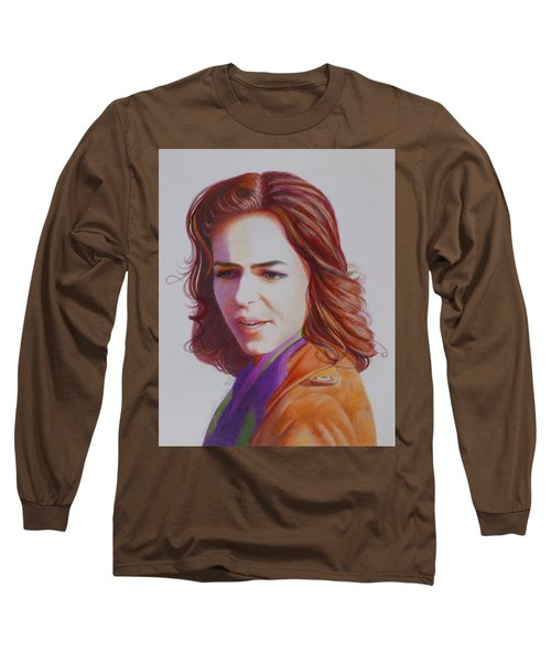 Long Sleeve T-Shirt featuring the painting Self-portrait by Constance DRESCHER