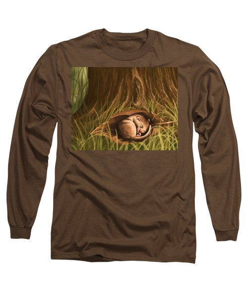 Long Sleeve T-Shirt featuring the painting Sleeping  by Veronica Minozzi