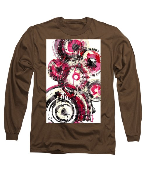 Long Sleeve T-Shirt featuring the painting Sphere Series 1025.050412 by Kris Haas