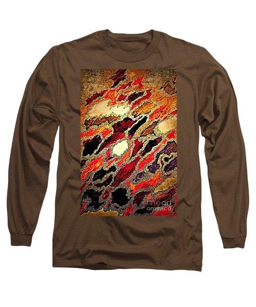Spirit Journey Through The Fire Long Sleeve T-Shirt by Rachel Hannah