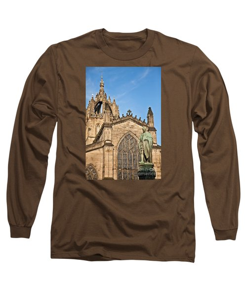 St Giles Cathedral  Edinburgh Long Sleeve T-Shirt by Liz Leyden