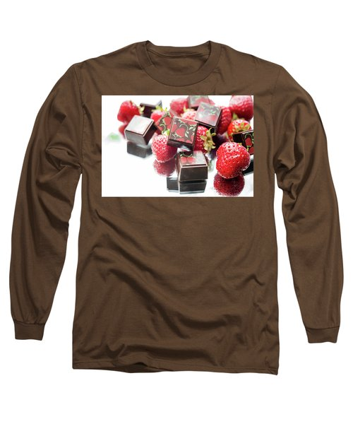 Strawberry Delight Long Sleeve T-Shirt by Sabine Edrissi