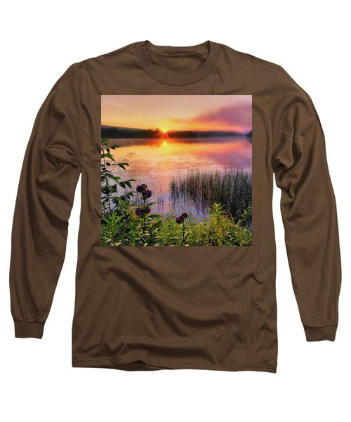 Long Sleeve T-Shirt featuring the photograph Summer Sunrise Square by Bill Wakeley