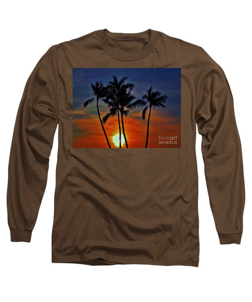 Sunlit Palms Long Sleeve T-Shirt by Craig Wood