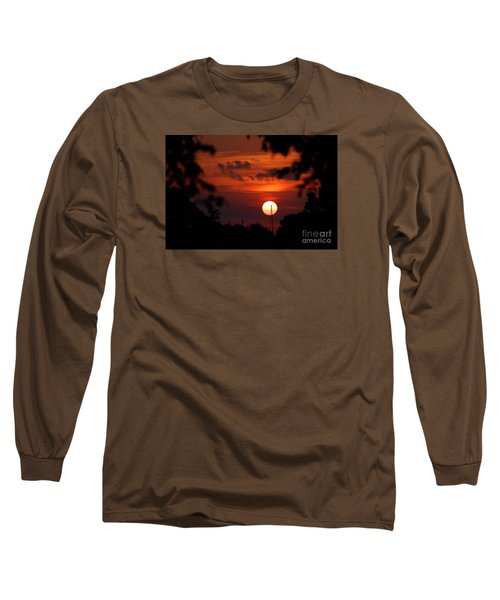 Sunset At Lake Hefner Long Sleeve T-Shirt