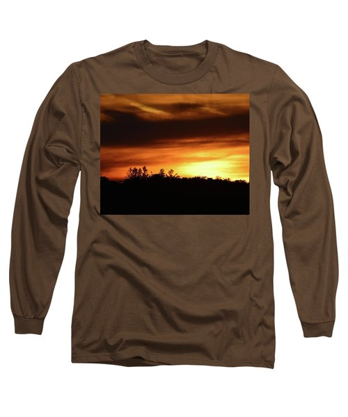 Sunset Behind The Clouds  Long Sleeve T-Shirt by Lyle Crump