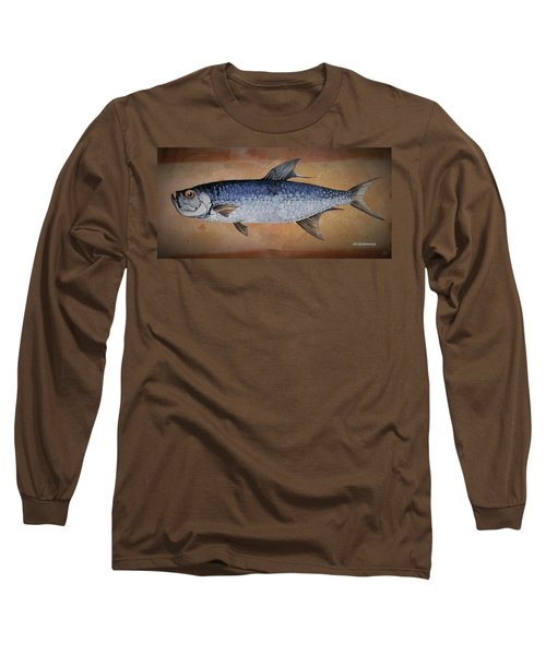 Long Sleeve T-Shirt featuring the painting Tarpan by Andrew Drozdowicz
