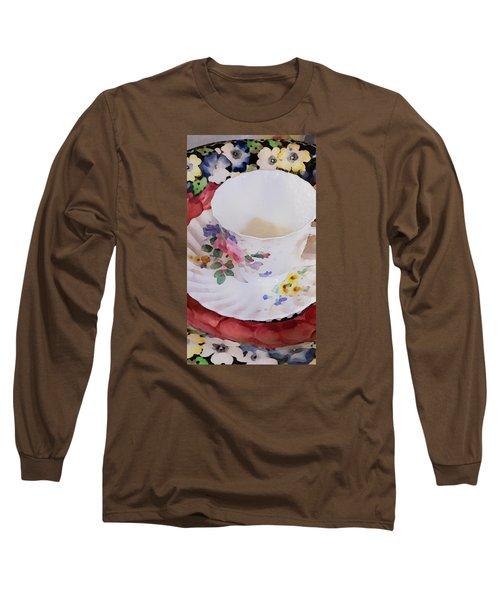 Tea Time Long Sleeve T-Shirt by Bonnie Bruno