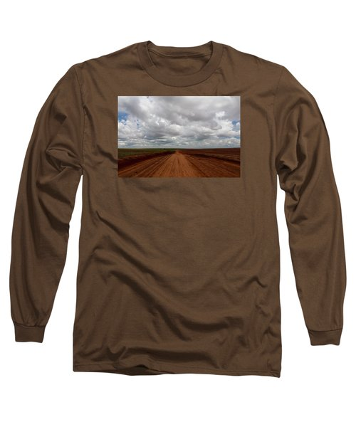 Texas Red Road Long Sleeve T-Shirt by Suzanne Lorenz