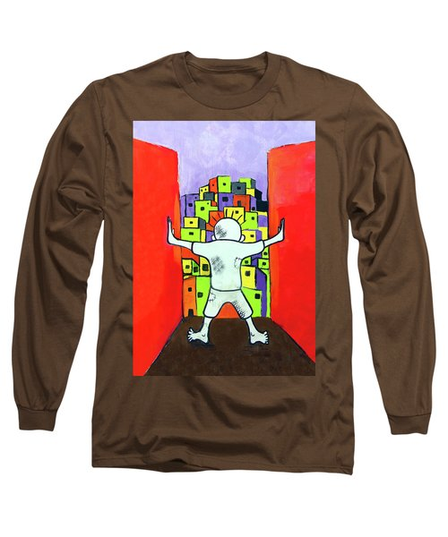 Long Sleeve T-Shirt featuring the photograph The Man by Munir Alawi