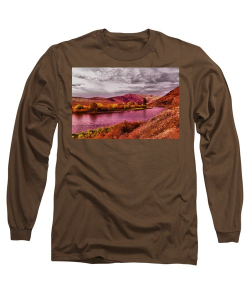 Long Sleeve T-Shirt featuring the photograph The Yakima River by Jeff Swan