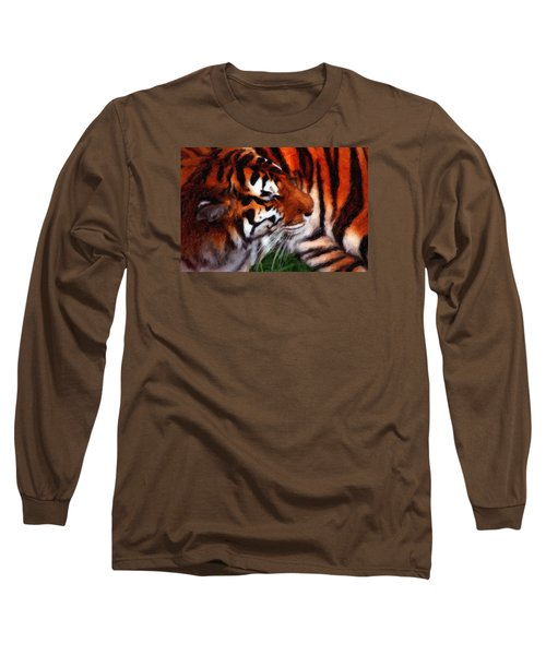 Tiger Long Sleeve T-Shirt by Andre Faubert