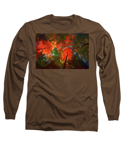 Tree Tops Long Sleeve T-Shirt by David Stasiak