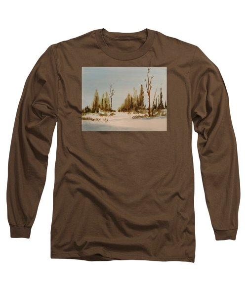 Winter Morning Long Sleeve T-Shirt by Larry Hamilton