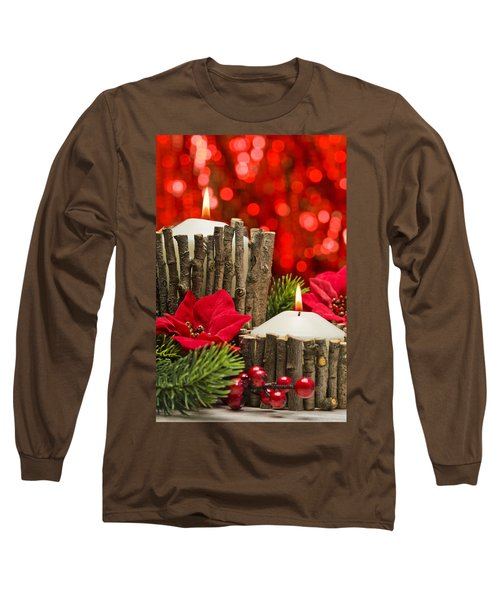 Long Sleeve T-Shirt featuring the photograph Autumn Candles by Ulrich Schade