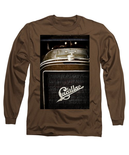 Long Sleeve T-Shirt featuring the photograph 1907 Cadillac Model M Touring Grille Emblem -1106ac by Jill Reger