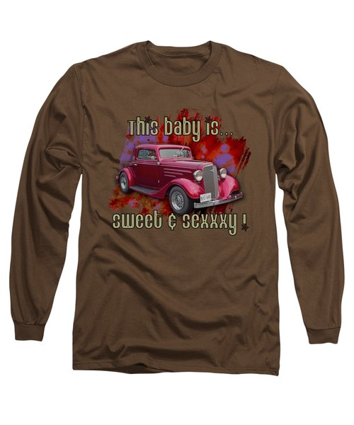 1935 Chev 3 Widow Coupe Long Sleeve T-Shirt