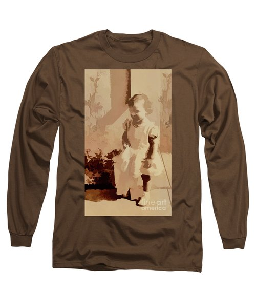 Long Sleeve T-Shirt featuring the photograph 1940s Little Girl by Linda Phelps