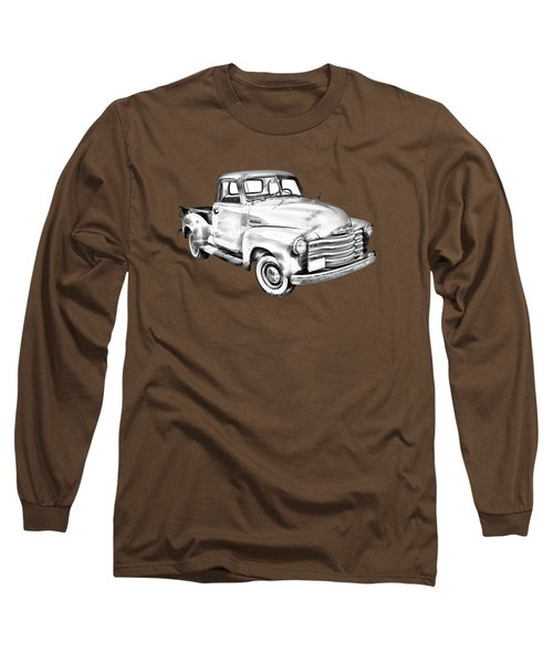 1947 Chevrolet Thriftmaster Pickup Illustration Long Sleeve T-Shirt