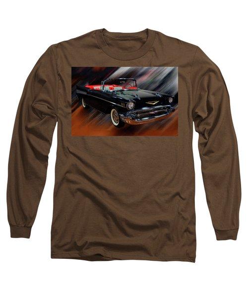 1957 Chevy Bel Air Convertible Digital Oil Long Sleeve T-Shirt