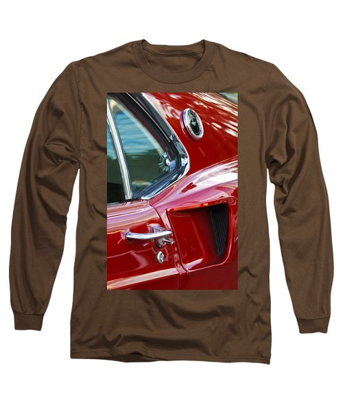 1969 Ford Mustang Mach 1 Side Scoop Long Sleeve T-Shirt by Jill Reger