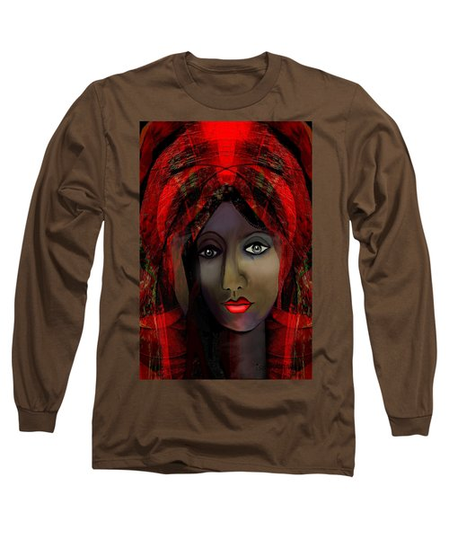 Long Sleeve T-Shirt featuring the digital art 1980 -  Leading Into Temptation 2017 by Irmgard Schoendorf Welch