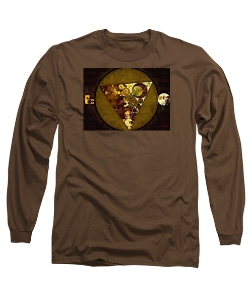 Abstract Painting - Golden Sand Long Sleeve T-Shirt