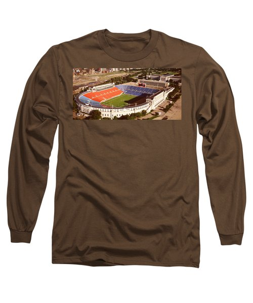 Aerial View Of A Stadium, Soldier Long Sleeve T-Shirt by Panoramic Images