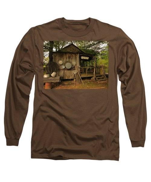 Cajun Cabin Long Sleeve T-Shirt by Ronald Olivier