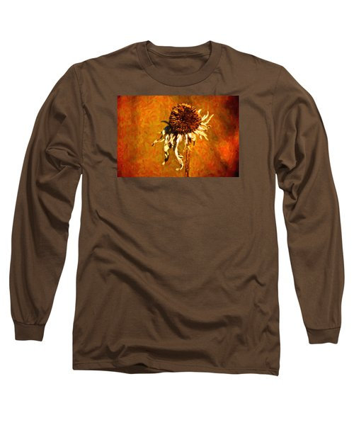Dead Flower Long Sleeve T-Shirt by Andre Faubert