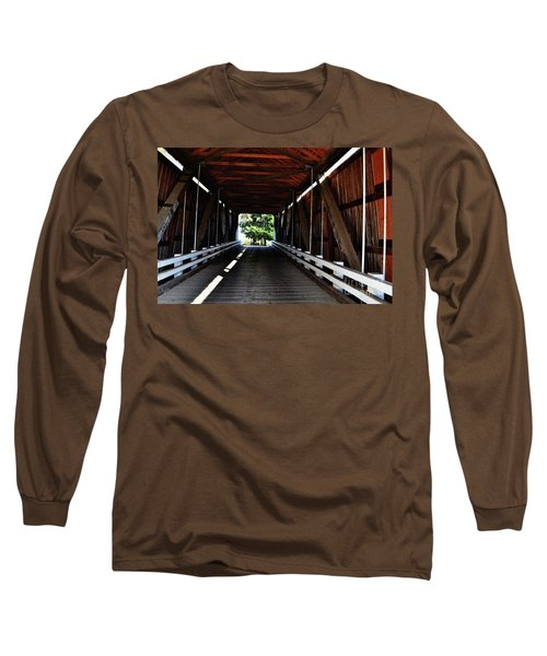 Gallon House Covered Bridge Long Sleeve T-Shirt by Ansel Price