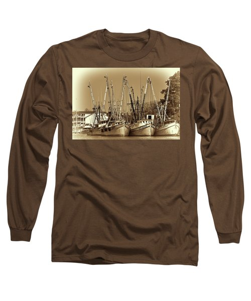Long Sleeve T-Shirt featuring the photograph Georgetown Shrimpers by Bill Barber