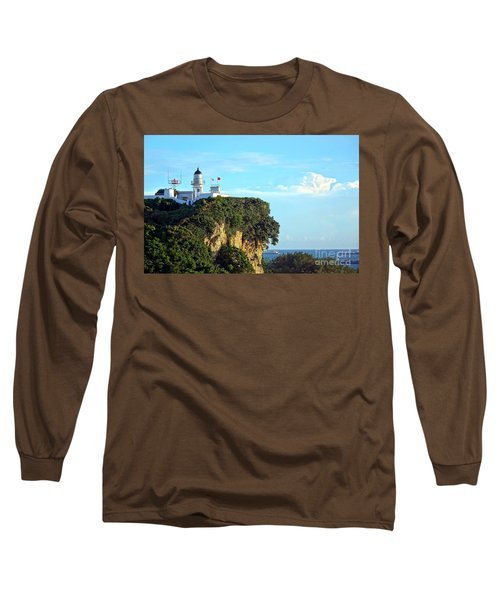 Long Sleeve T-Shirt featuring the photograph Old Lighthouse Overlooking Kaohsiung Harbor by Yali Shi