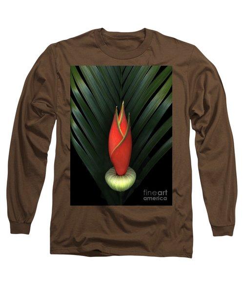Palm Of Fire Long Sleeve T-Shirt by Christian Slanec