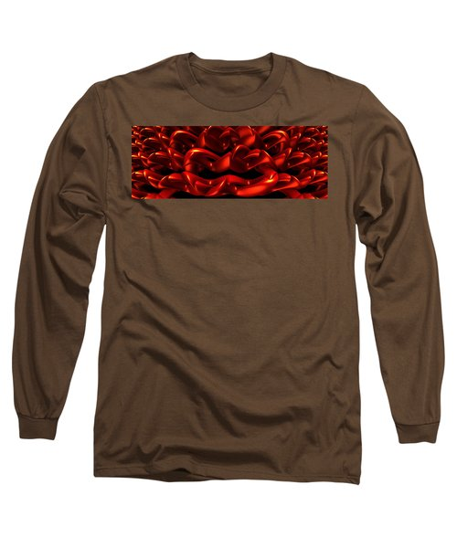 Long Sleeve T-Shirt featuring the digital art Red by Lyle Hatch