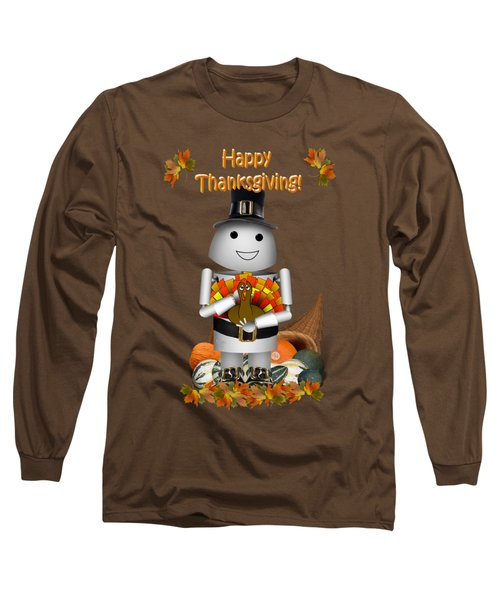 Robo-x9 The Pilgrim Long Sleeve T-Shirt by Gravityx9  Designs